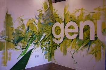 Collaborative mural done with Josh Falk, Steve Holding and Kenji Nakayama for a design firms lobby in Boston.
