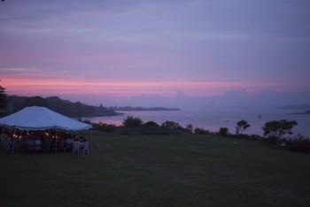 Hurricane Wedding Sunset - Yamazaki/Burdett Wedding - Great Island, ME