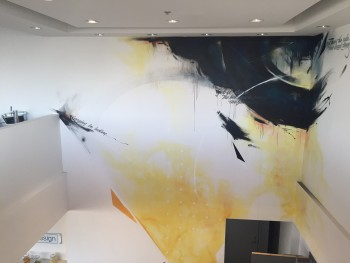 LLM Design Office Mural